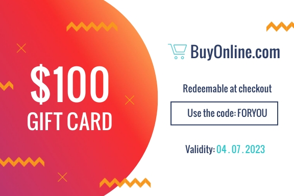 Ecommerce Gift Certificate Template