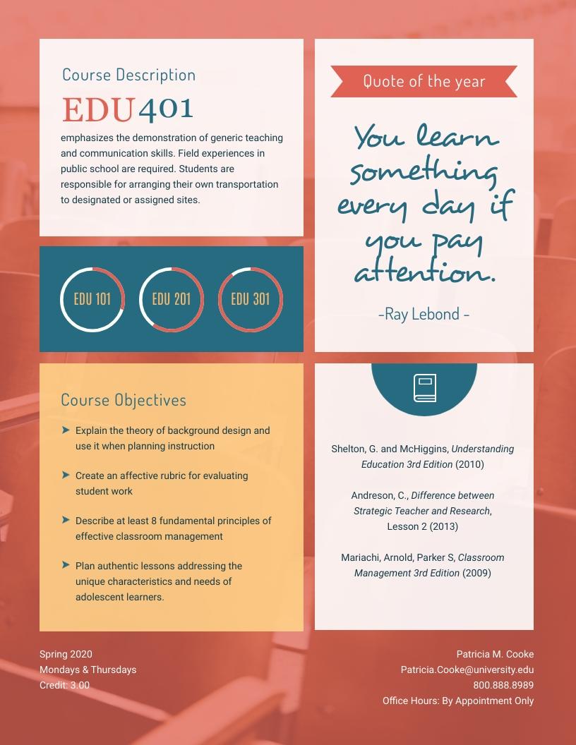 Education - Syllabus Template