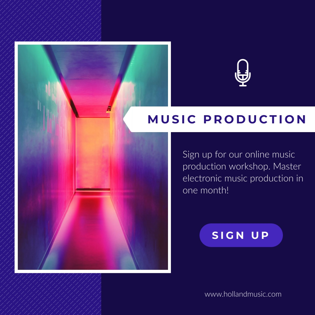Electronic Music Production Animated Square Template