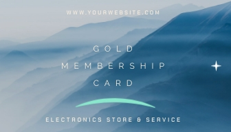 Electronics Store Loyalty Card Template