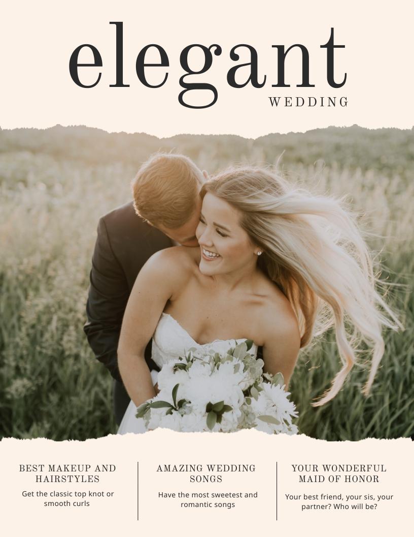 Elegant Wedding Magazine Cover  Template