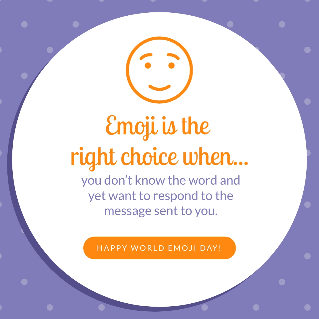 Emoji is the Right Choice Animated Square Template