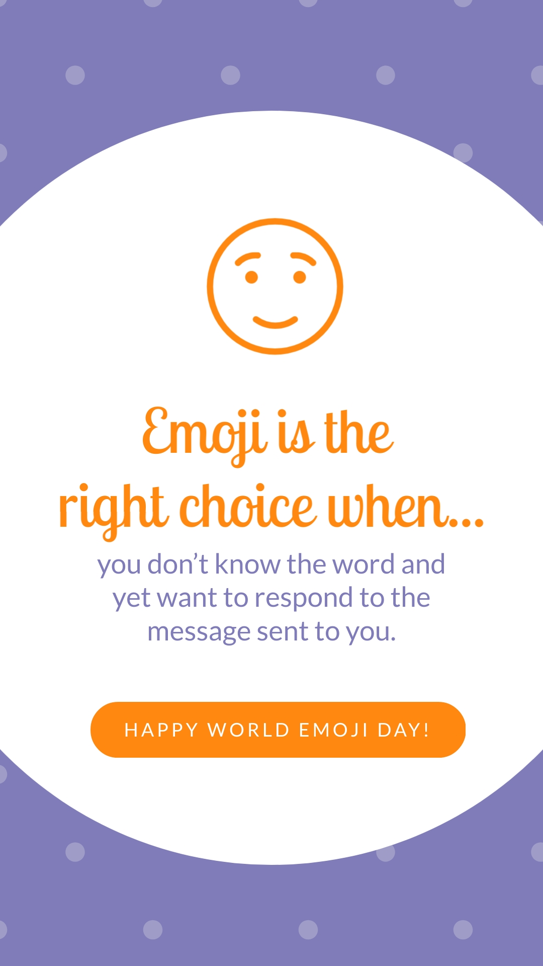 Emoji is the Right Choice Animated Vertical Template