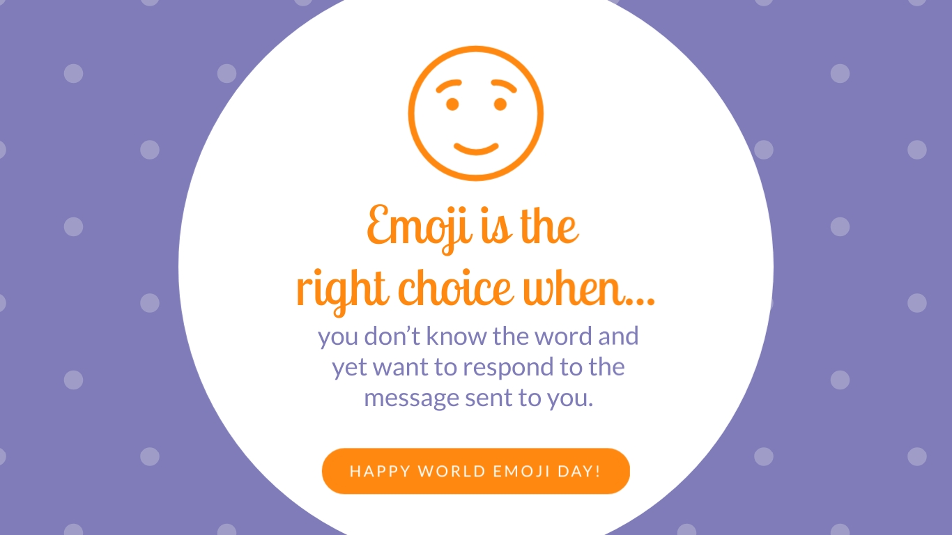 Emoji is the Right Choice Animated Wide Template