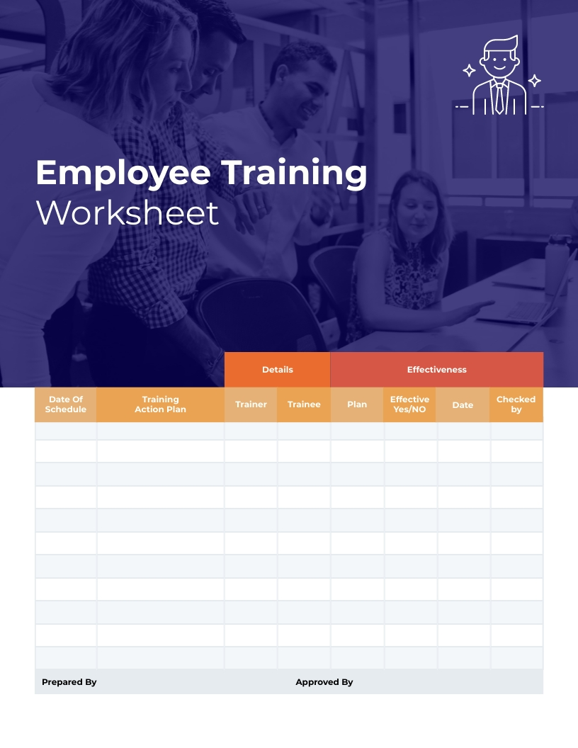Employee Training Worksheet Template