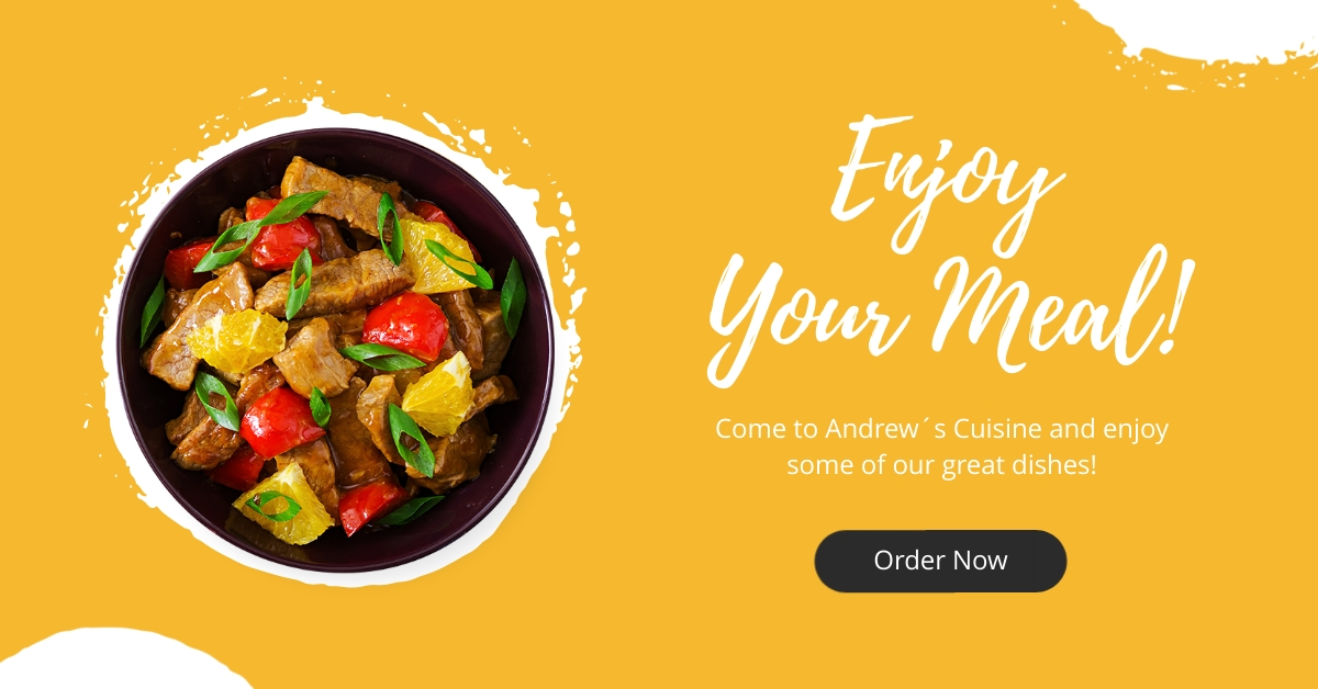 Enjoy Your Meal - Facebook Ad Template