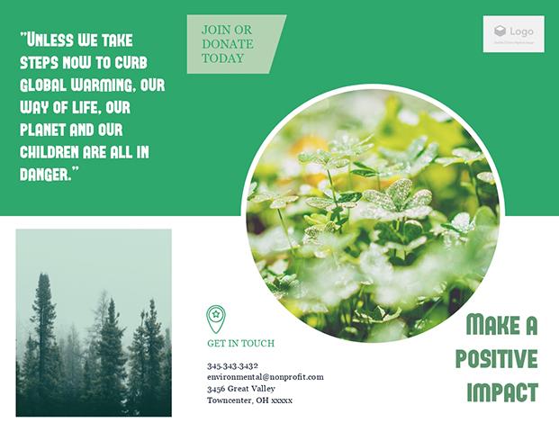 Environmental Non Profit - Trifold Brochure Template