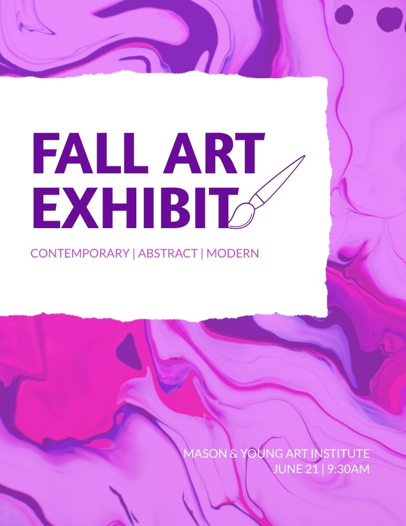 Fall Art Exhibit - Event Program Template