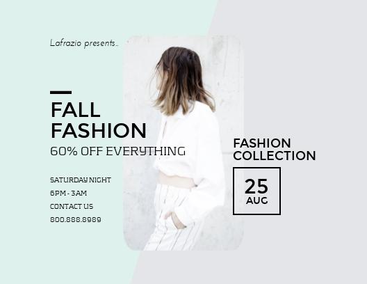 Fall Fashion - Postcard Template