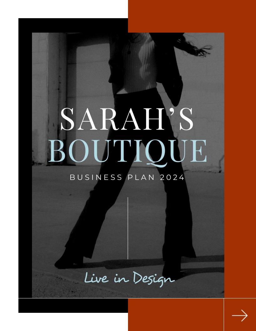 Fashion - Business Plan Template