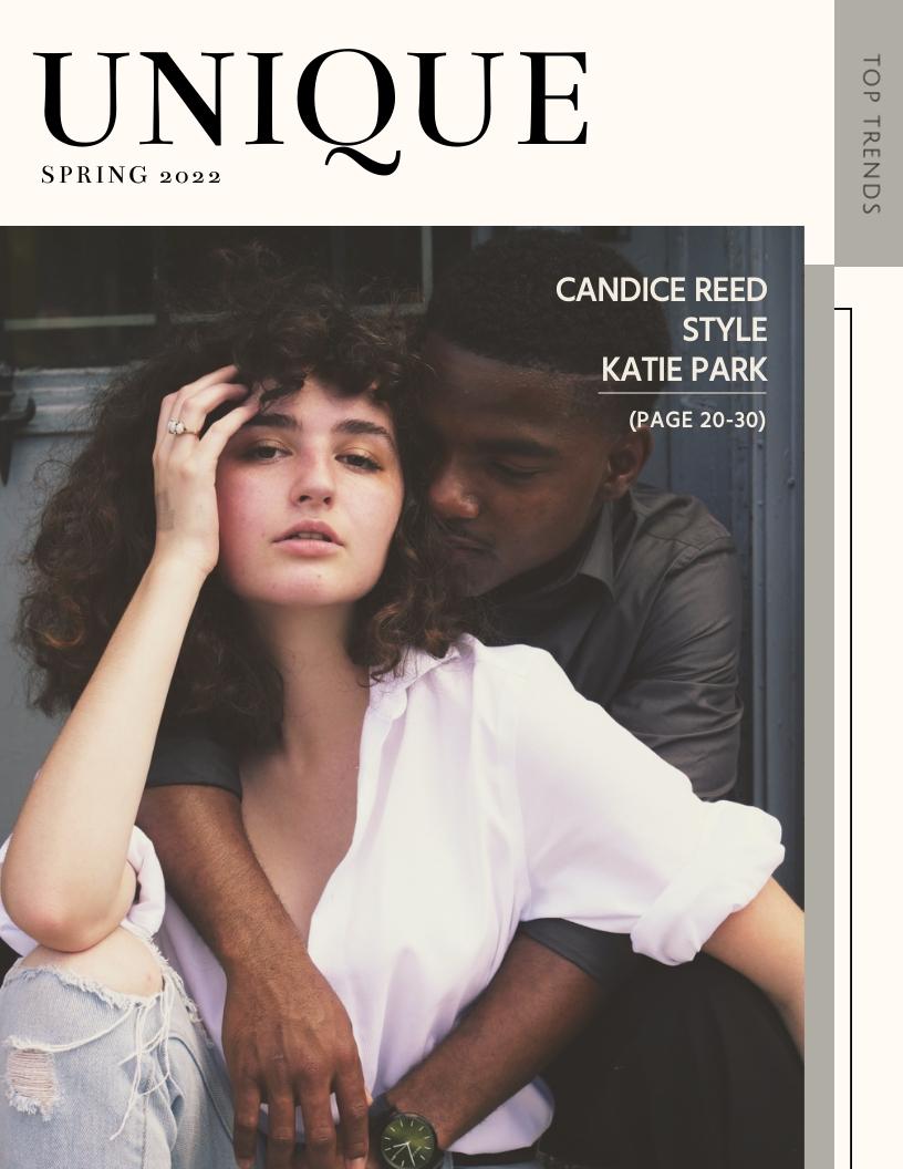 Fashion - Magazine Cover Template