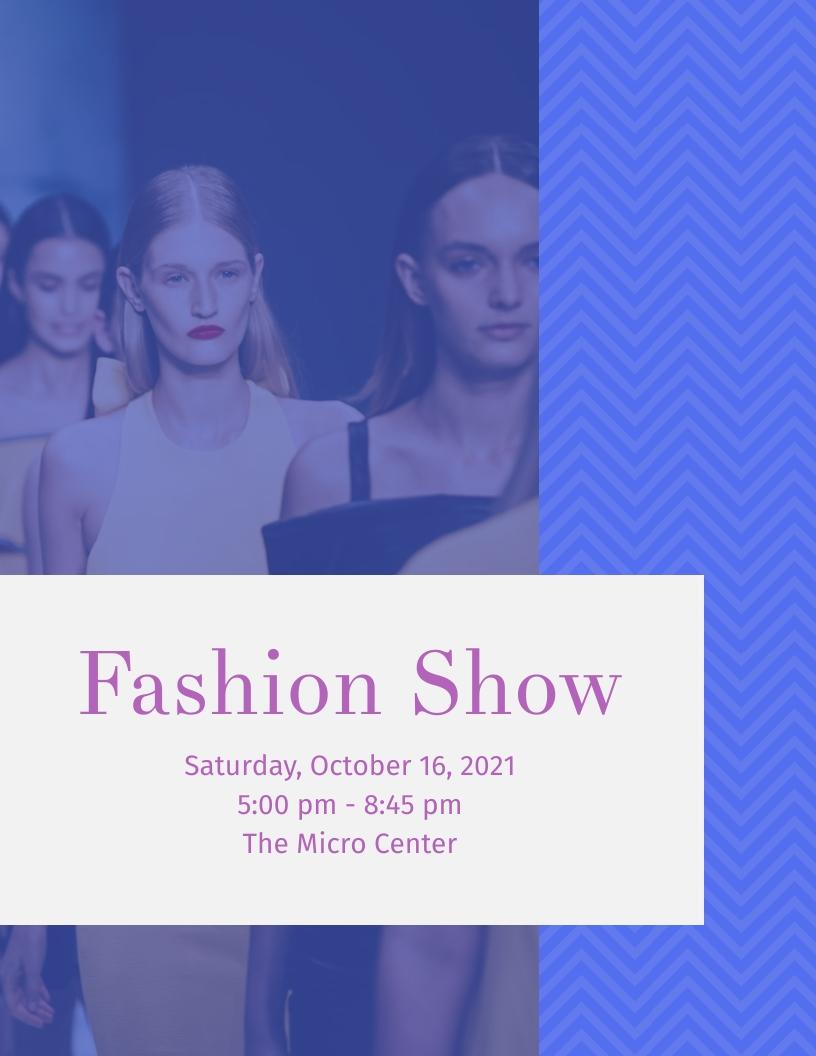 Fashion Show - Event Program Template