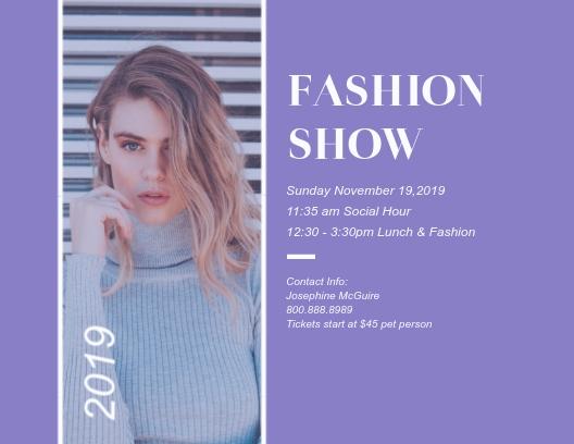Fashion Show - Postcard Template