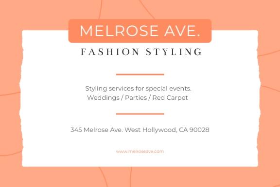 Fashion Styling Address Label Template