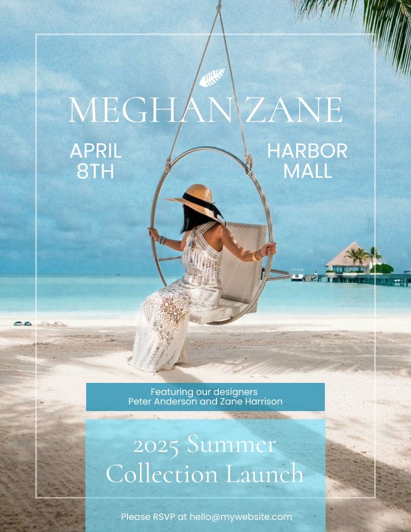 Fashion Summer Launch Flyer Template