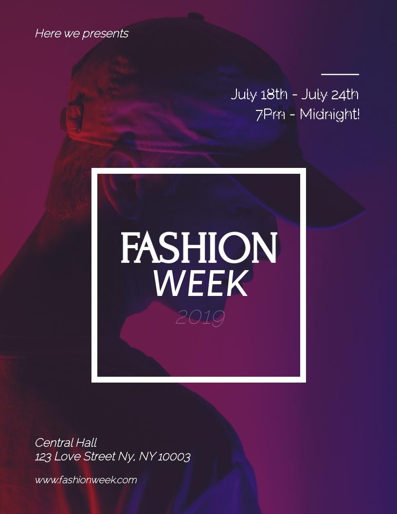 Fashion Week - Flyer Template