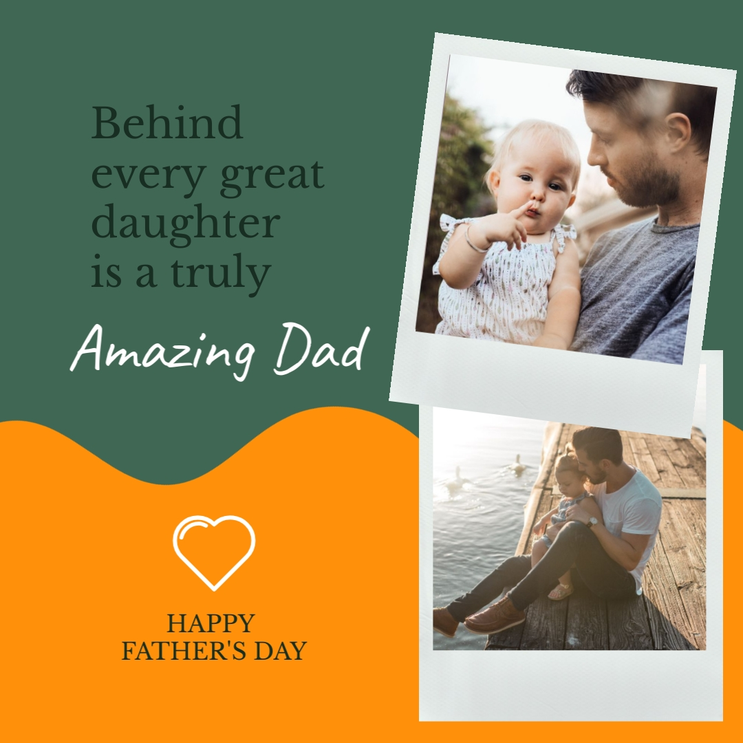 Fathers Day Amazing Dad Animated Square Template