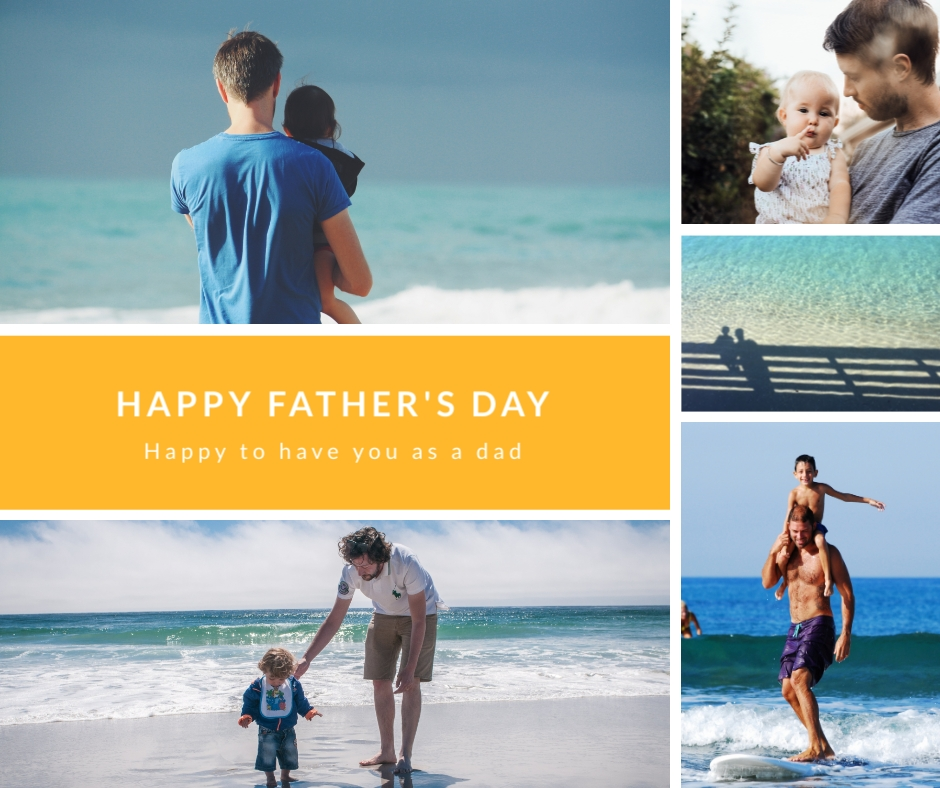 Fathers Day Beach Facebook Post Template