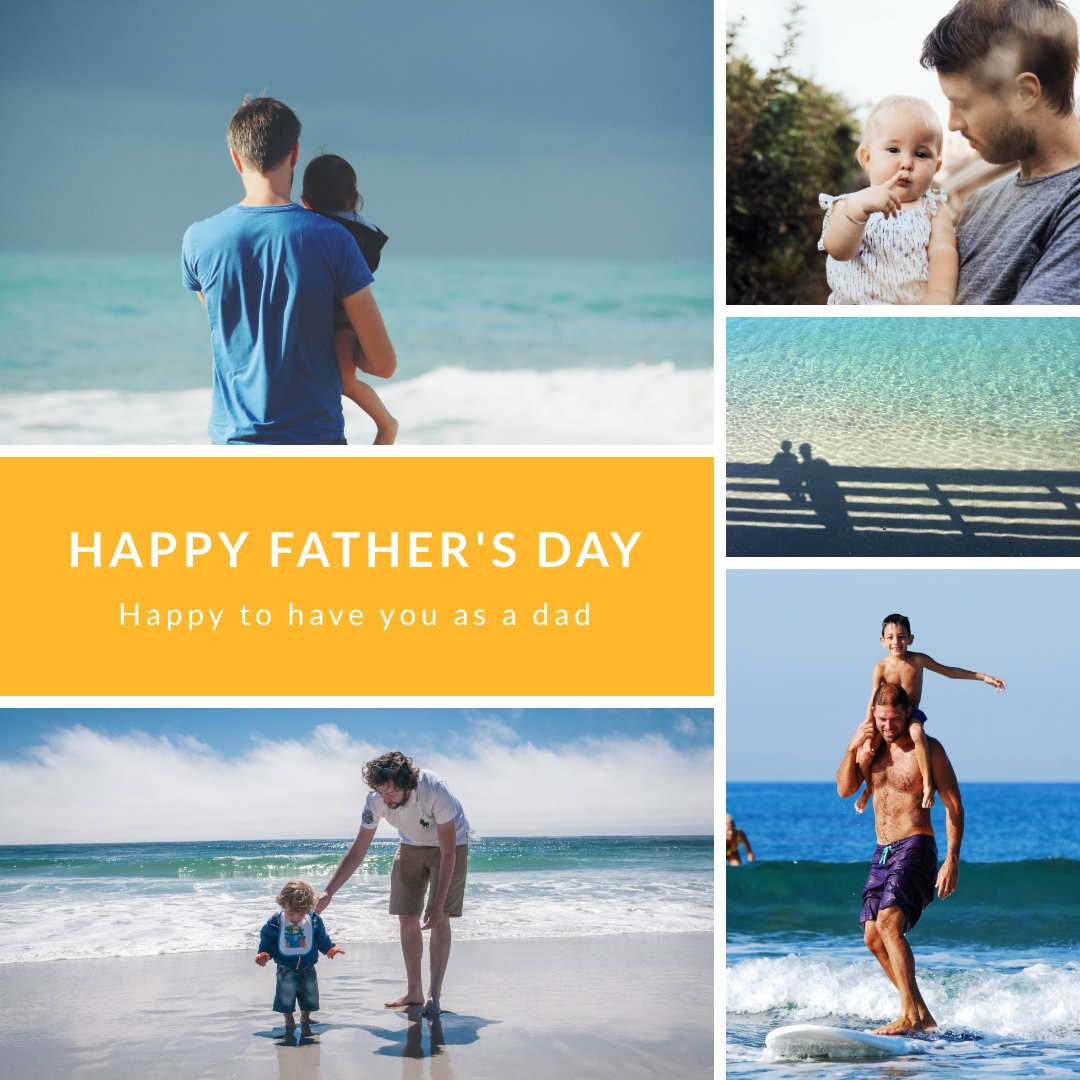 Fathers Day Beach Instagram Post Template