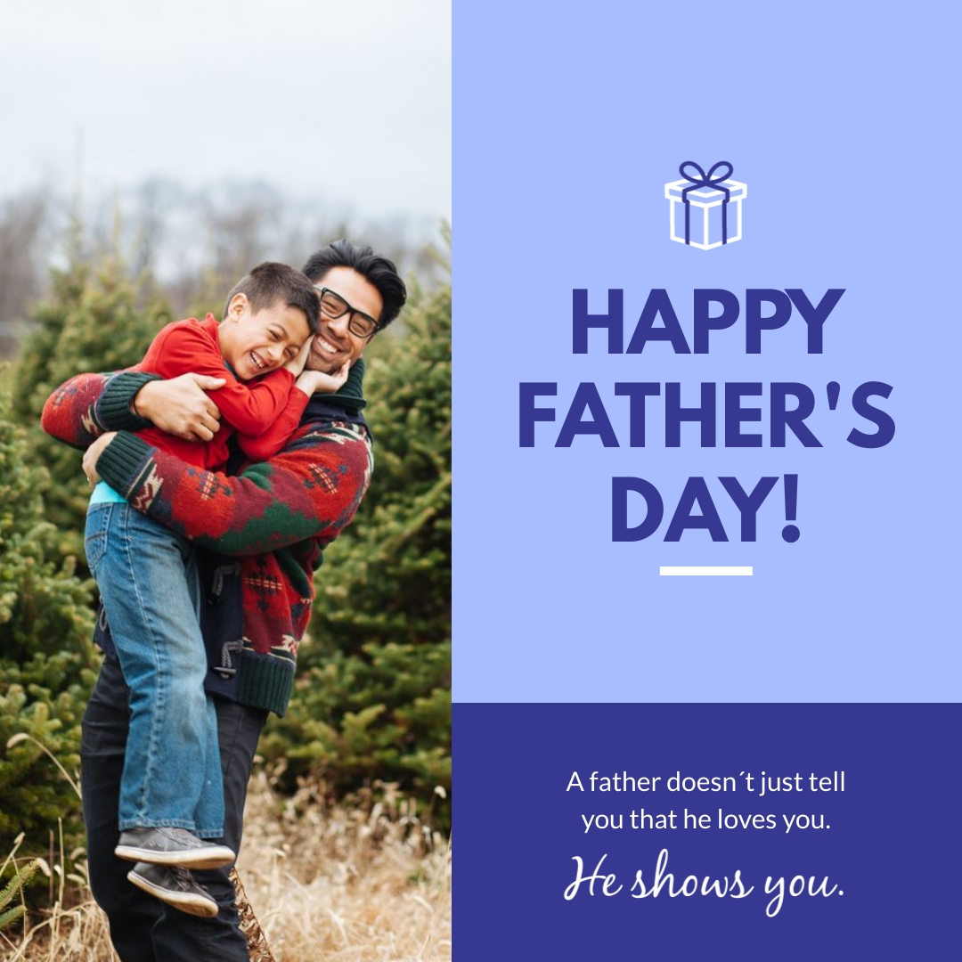 Fathers Day Card Animated Square Template