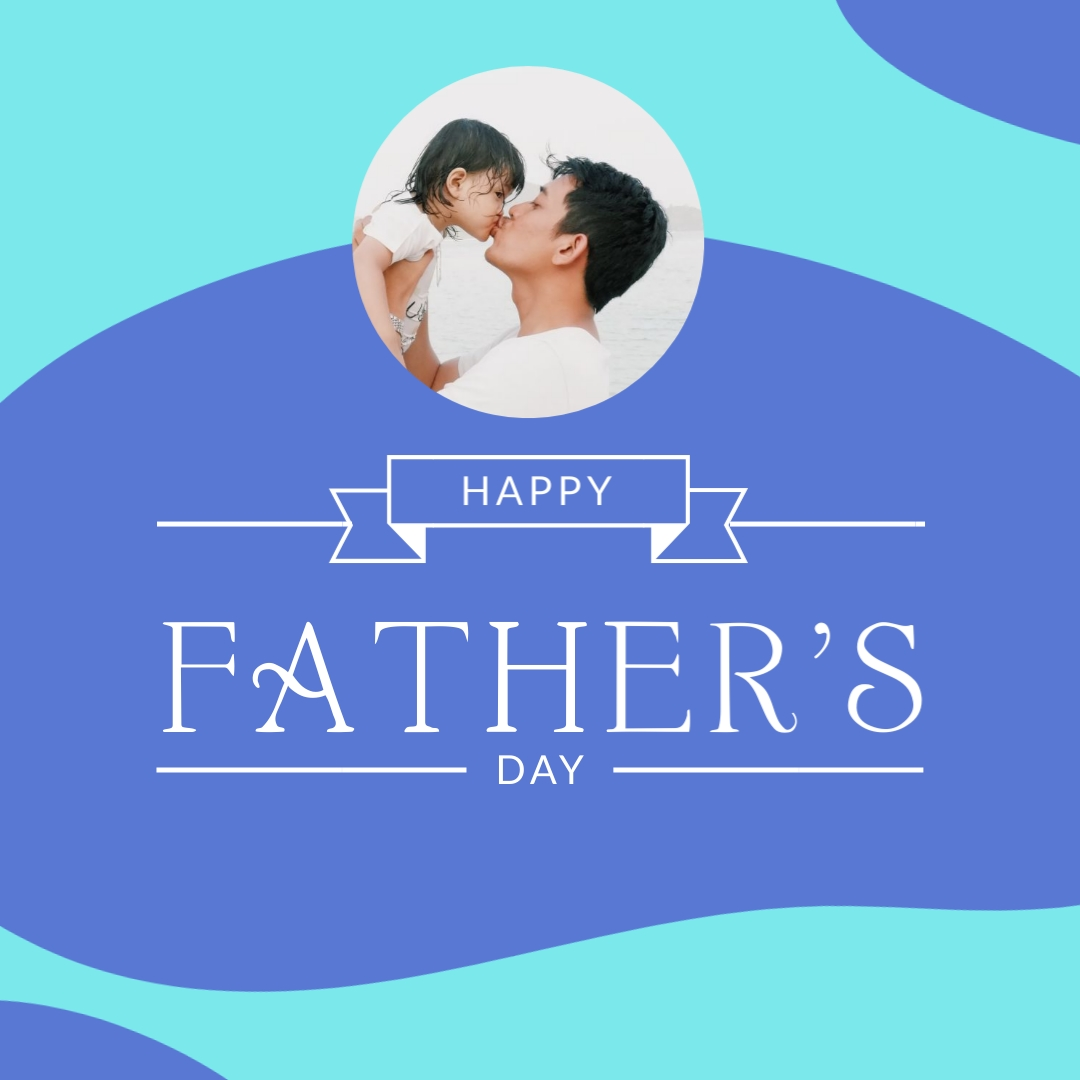 Fathers Day Dad and Daughter Love Template