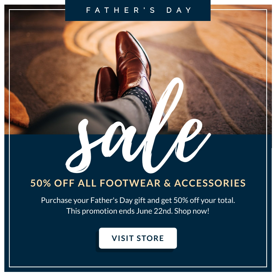 Fathers Day Footwear Sale - Instagram Post Template