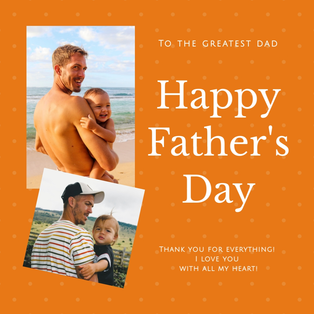 Fathers Day Greatest Dad Template