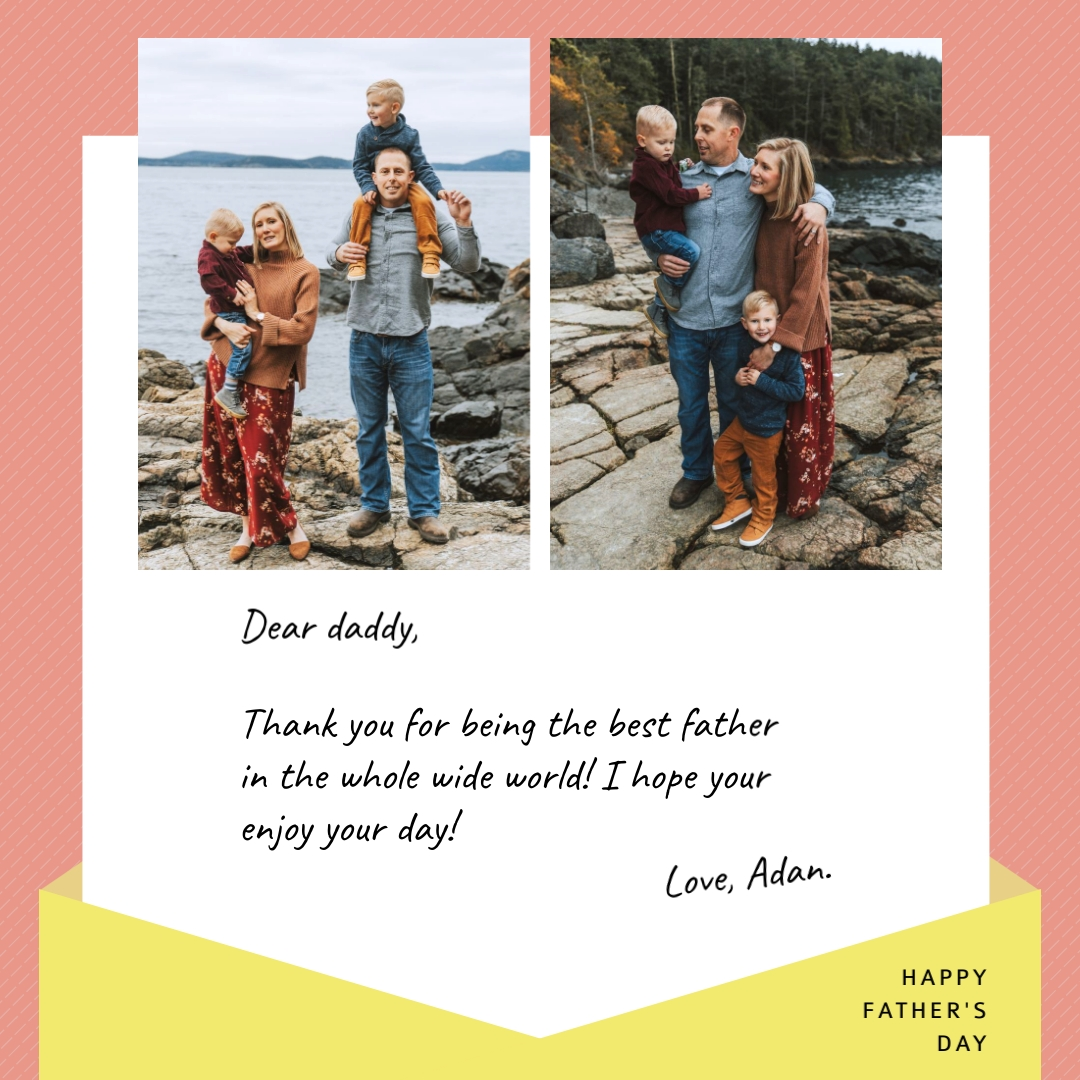 Fathers Day Letter Collage Animated Square Template