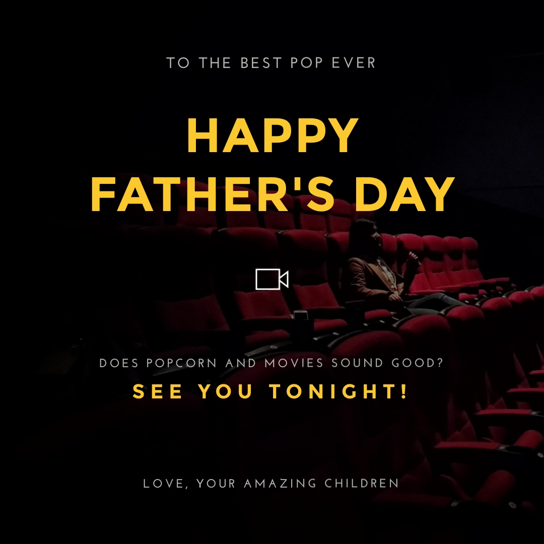 Fathers Day Movie Instagram Post  Template