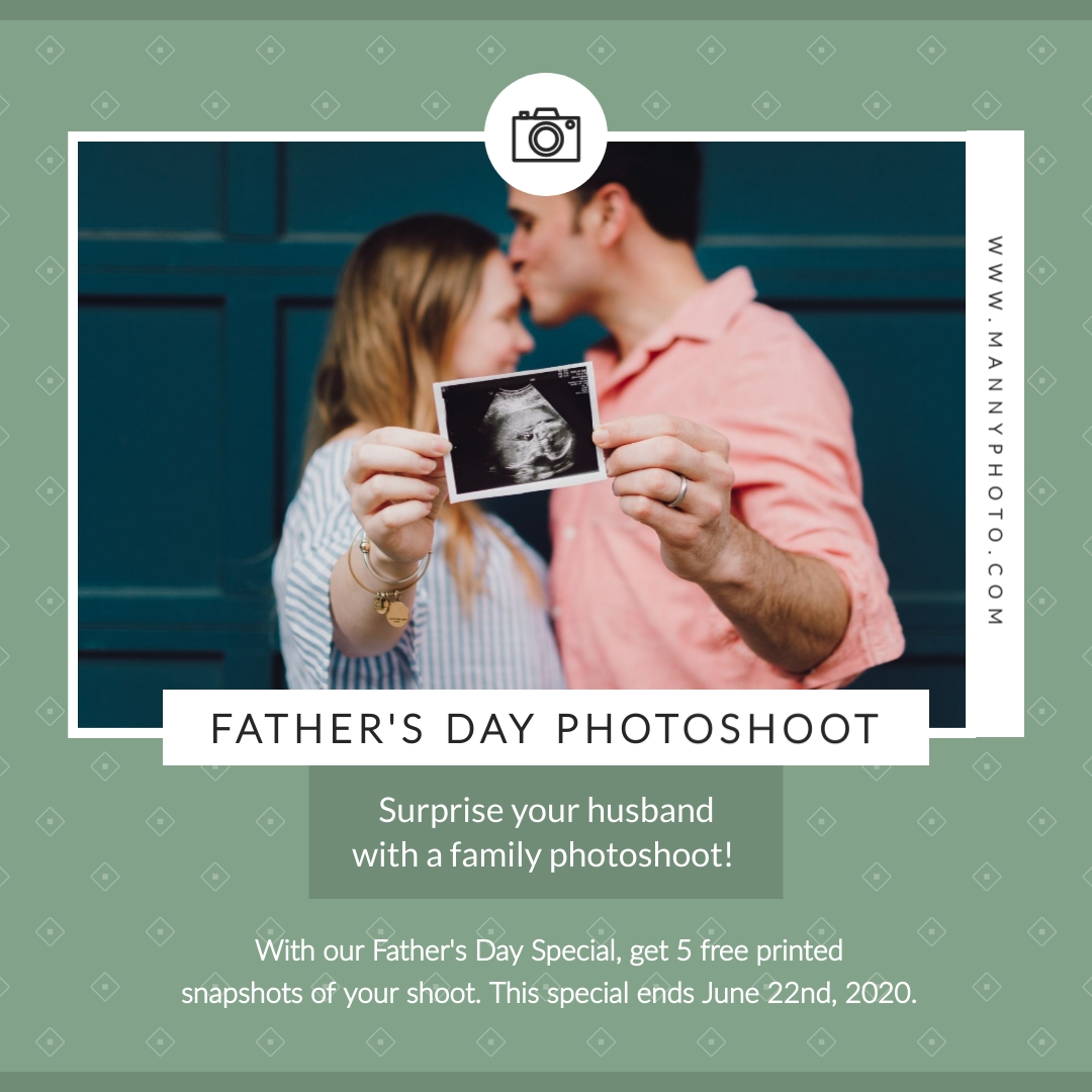 Fathers Day Photoshoot Animated Square Template