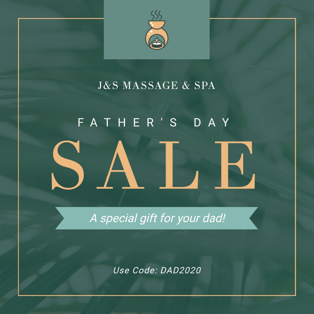 Fathers Day Sale Massage and Spa - Instagram Post Template