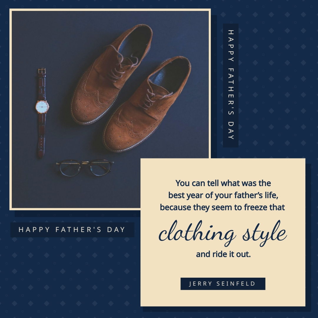 Fathers Day Seinfeld Quote Animated Square Template