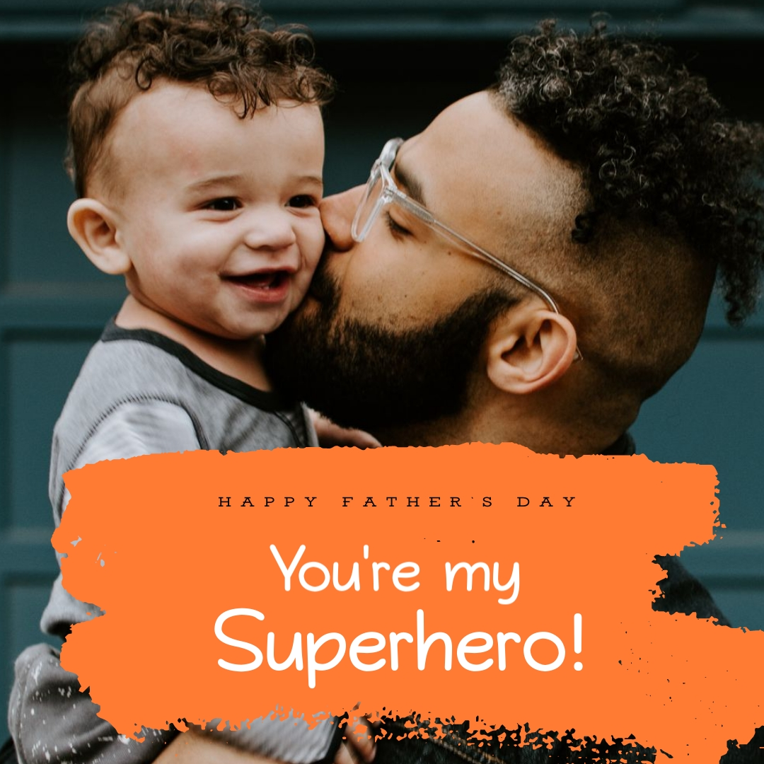 Fathers Day Superhero Animated Square Template