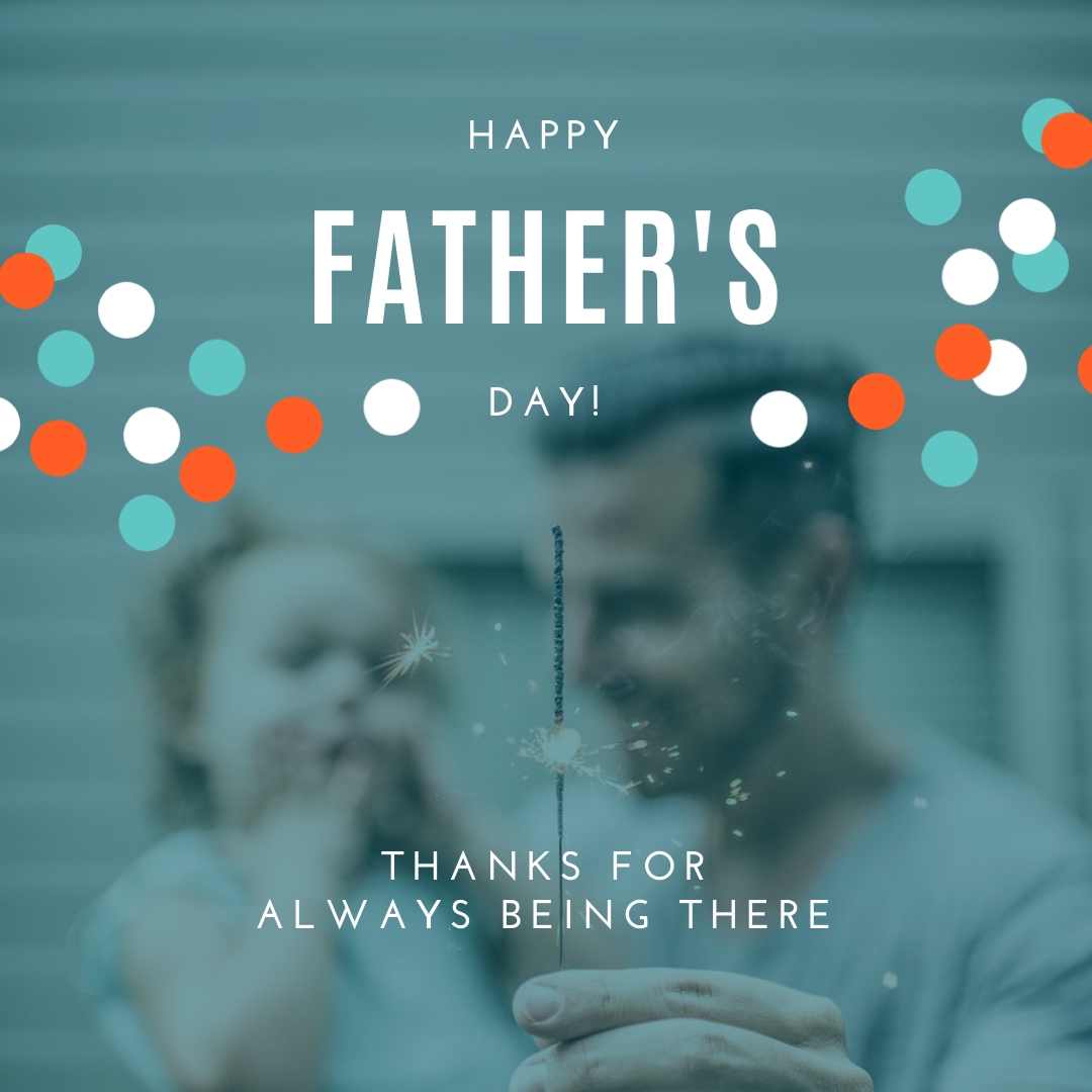 Fathers Day Thanks Animated Square Template