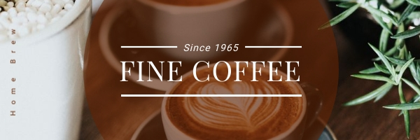 Fine Coffee Email Header Template