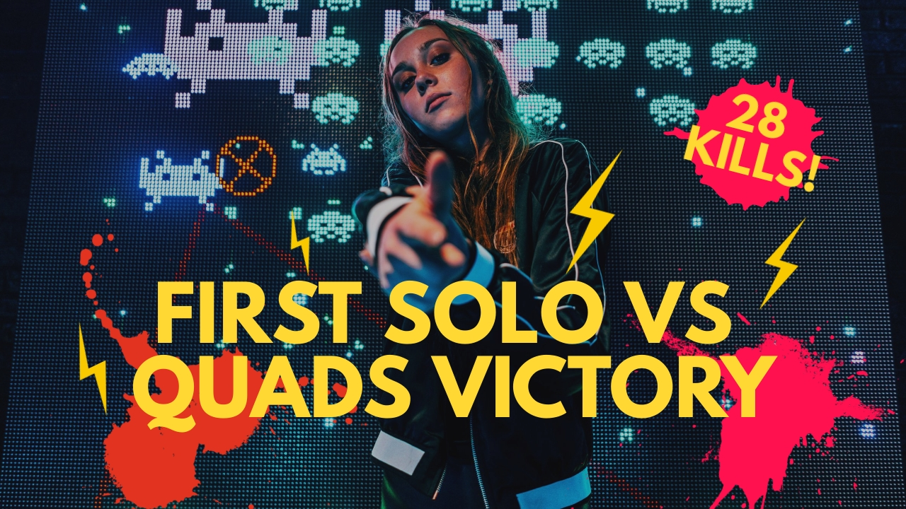 First Solo vs Quads Victory Youtube Thumbnail Template