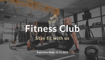 Fitness Loyalty Card Template