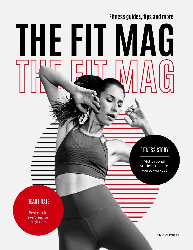 Fitness Magazine Template
