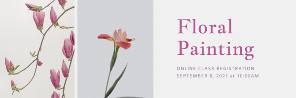 Floral Painting Email Header Template