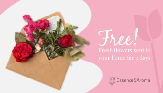 Flower Boutique Gift Card Template
