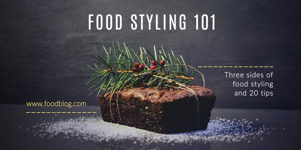 Food Styling Twitter Post  Template
