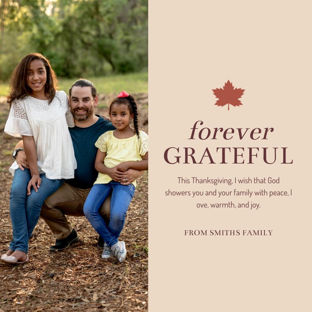 Forever Grateful Instagram Post Template