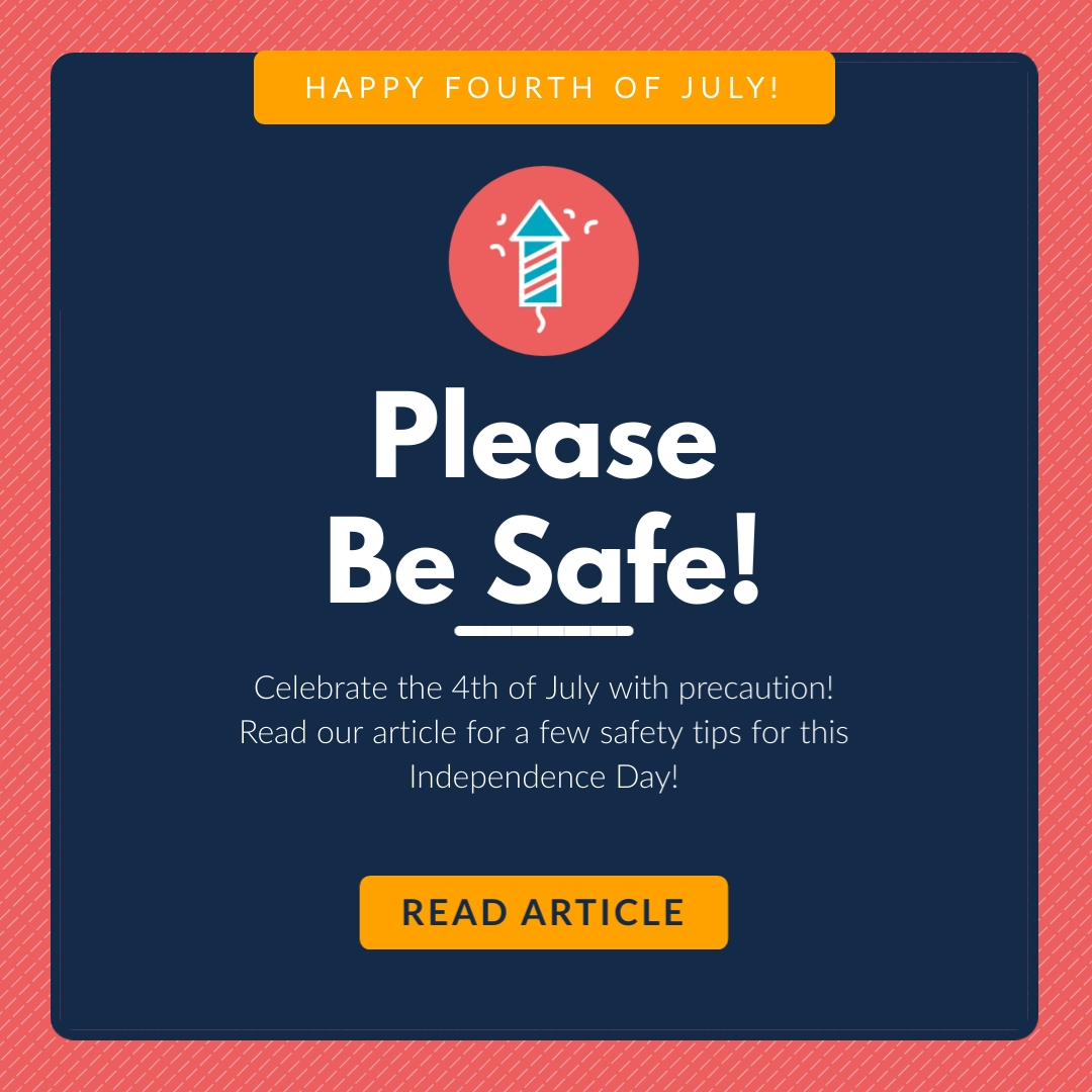 Fourth of July Safety Animated Square Template