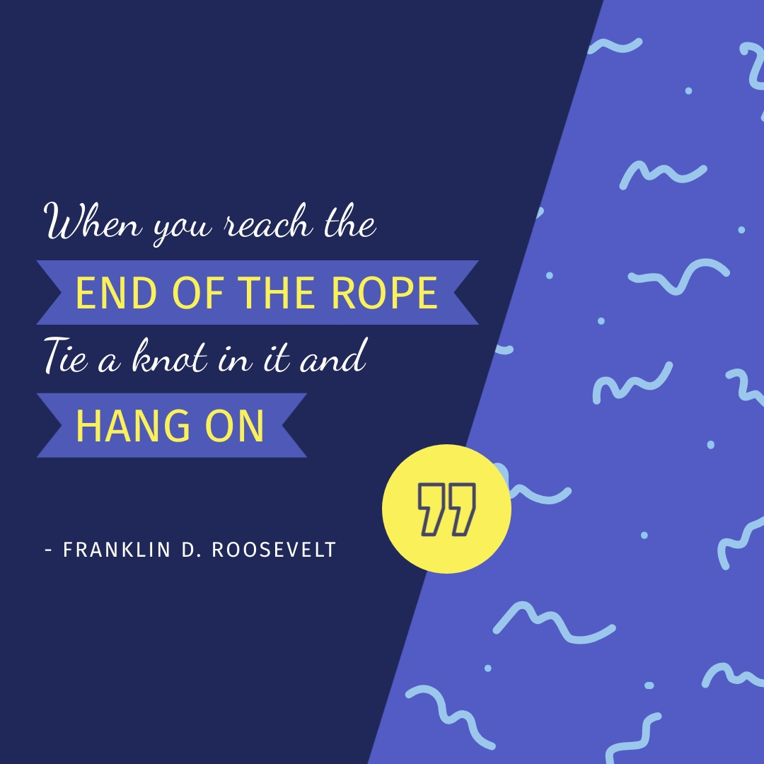 Franklin D Roosevelt Animated Quote Square Template