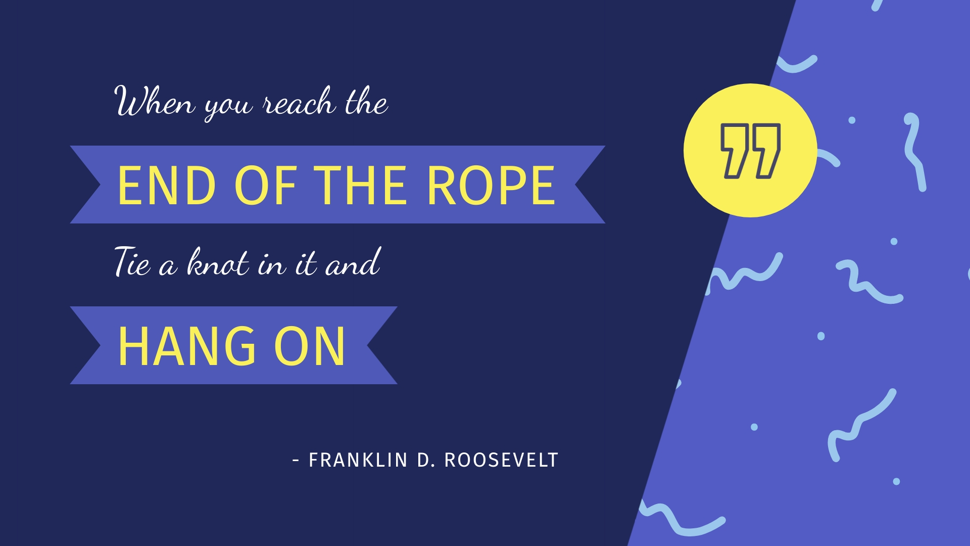 Franklin D. Roosevelt - Animated Quote Template