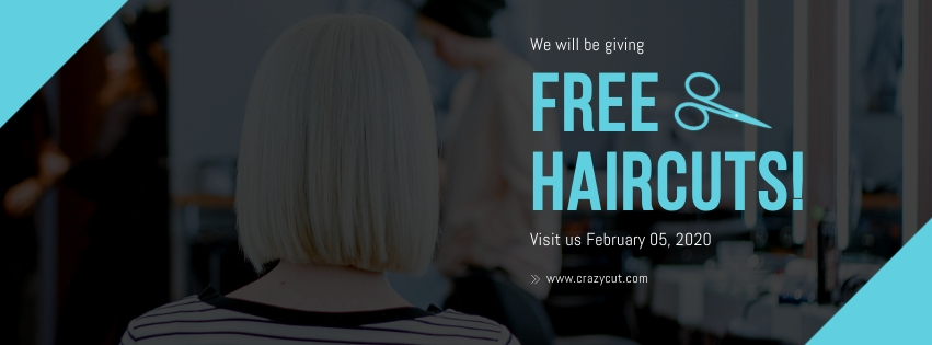 Free Haircut Facebook Cover  Template