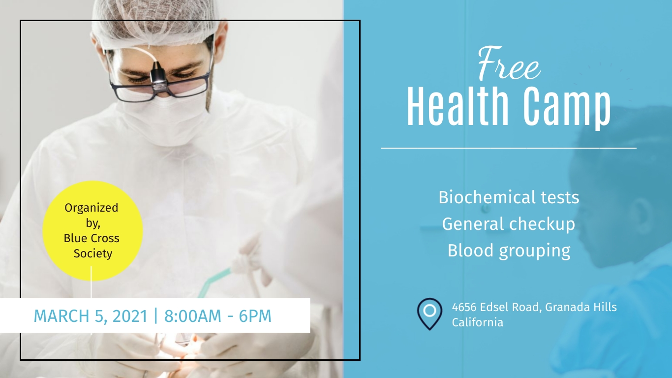Free Health Check - Facebook Event Cover Template