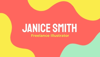 Freelance Illustrator Business Card Template