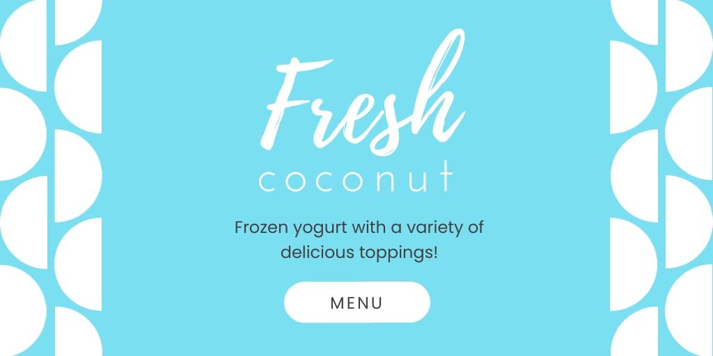 Fresh Coconut Twitter Post  Template