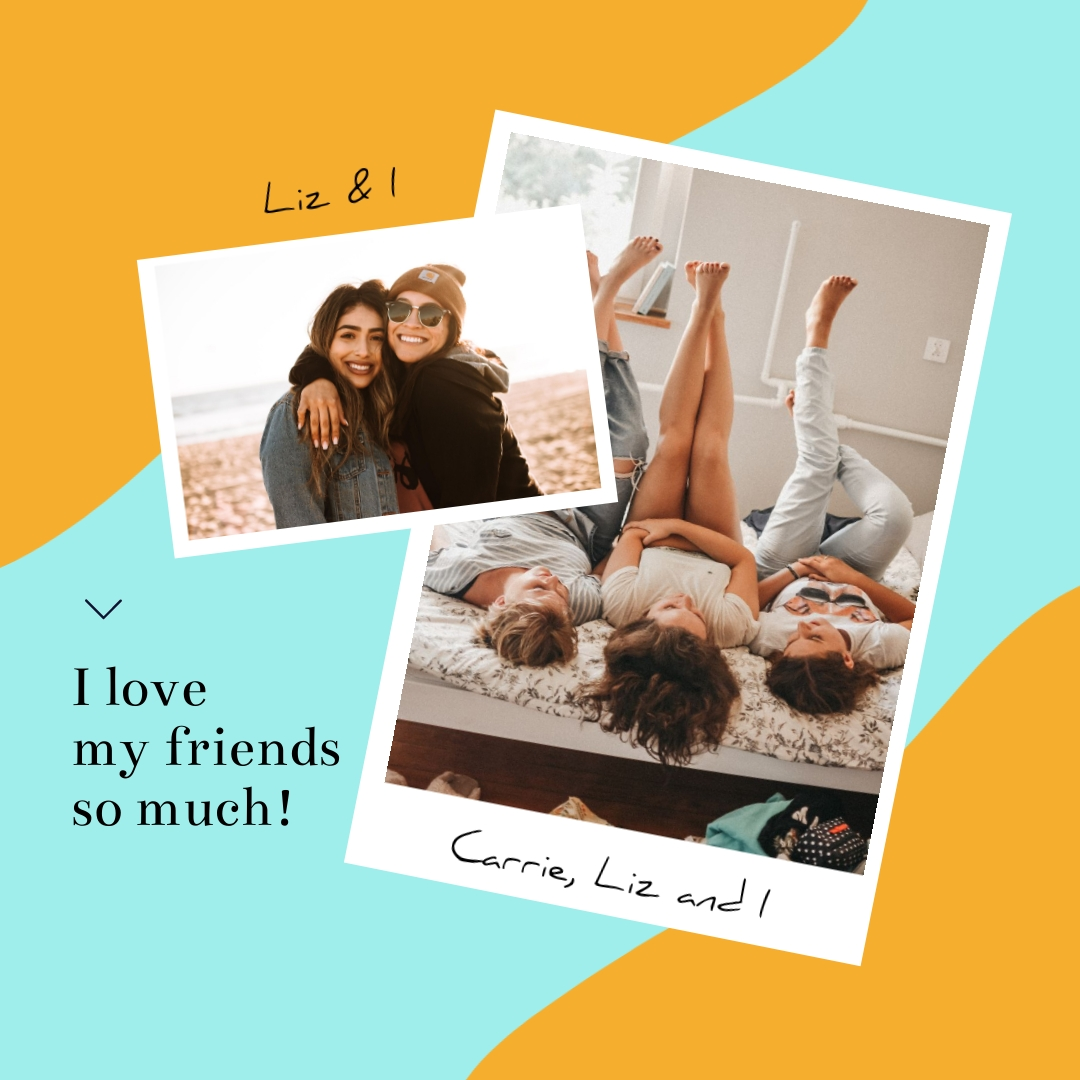 Friendship Day I Love My Friends Square Template
